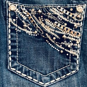 Miss Me Easy Boot Jeans Size 25 Women's